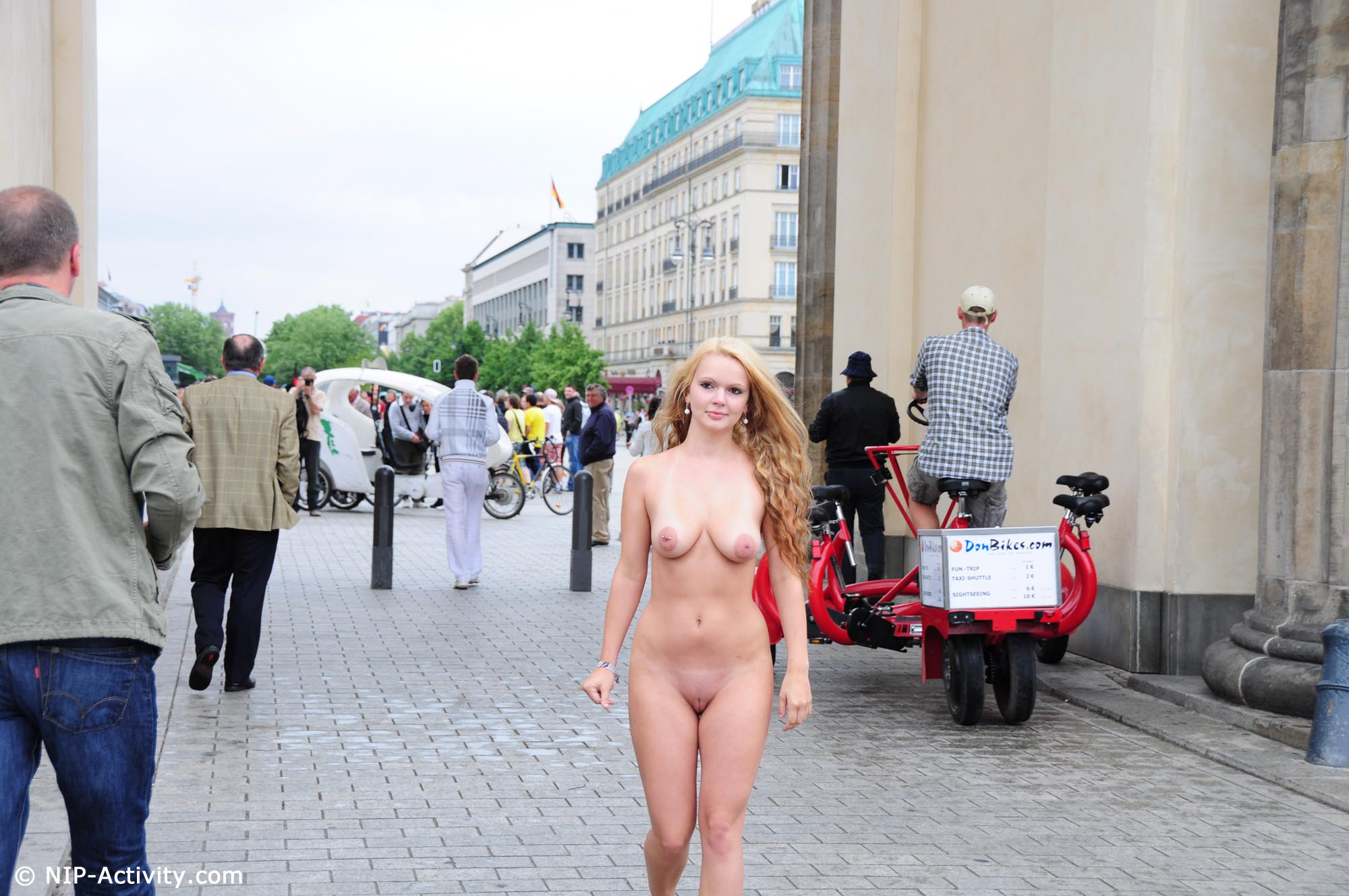 Nip activity in nude public