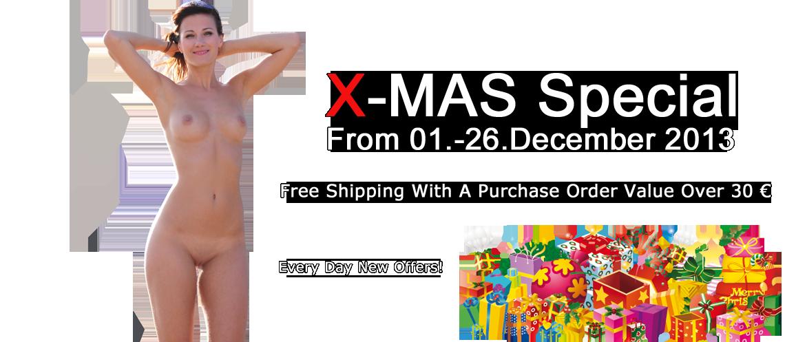 Nude In Publlic DVD Store X-Mas Special